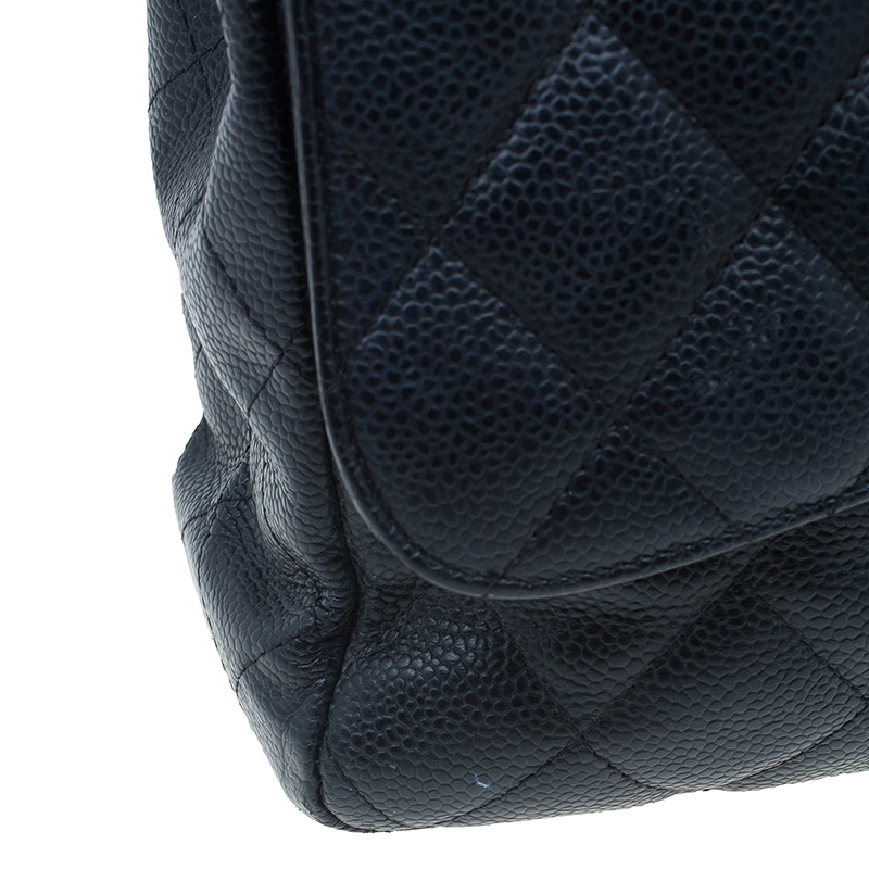 Chanel Black Caviar Leather Jumbo Classic Flap Bag