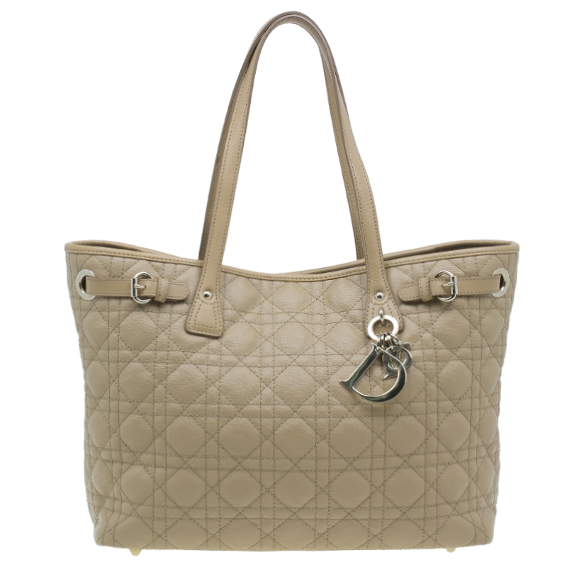 Dior Beige Soft Leather Medium Panarea Tote