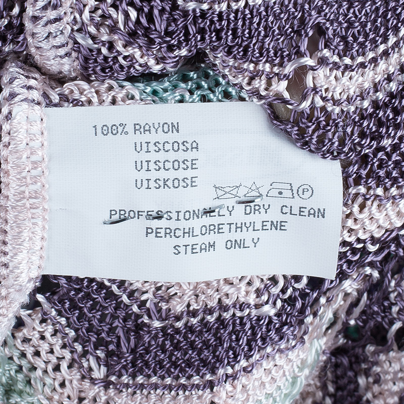 Missoni Zig-Zag Knit Sleeveless Top M
