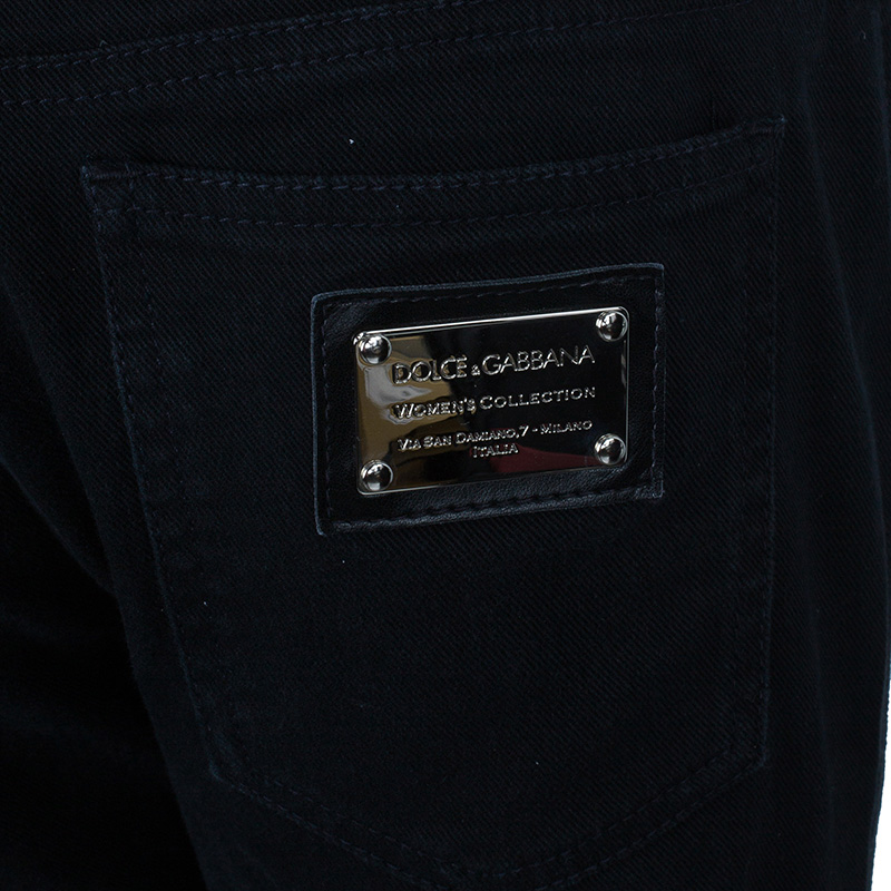Dolce and Gabbana Black Denim Skinny Jeans M