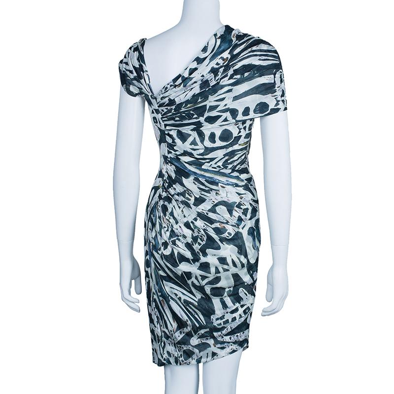 Malandrino Monochrome Ruched Jersey Dress M