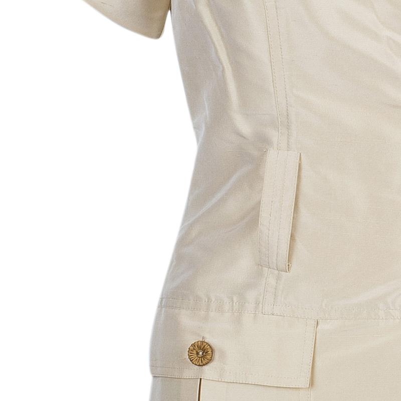 Diane Von Furstenberg Beige Safaya Utility Dress M