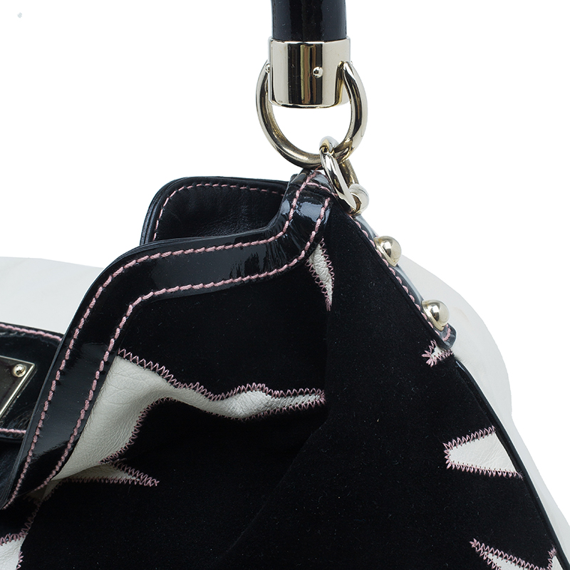 Gucci White Leather Limited Edition Applique Indy Hobo