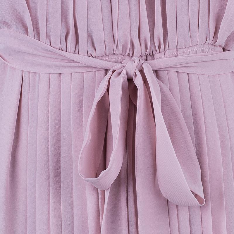 Diane Von Furstenberg Ria Blush Pink Pleated Dress L