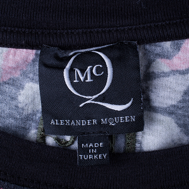 McQ By Alexander McQueen Butterfly Printed Boyfriend T-Shirt L