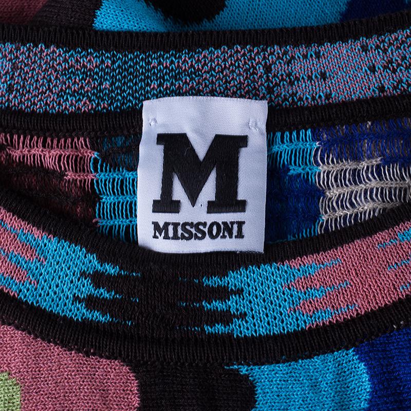 M Missoni Wave Crochet Knit Top L