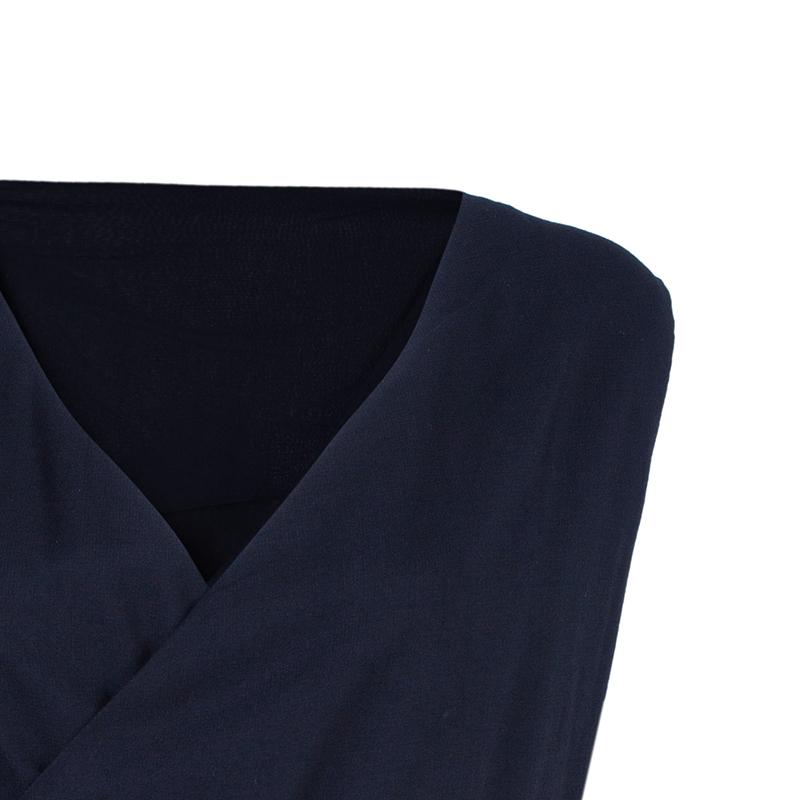 Vivienne Westwood Anglomania Black Crepe Peplum Top L