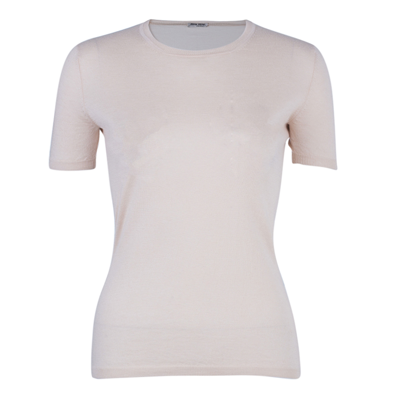 Miu Miu Beige Knit Top S