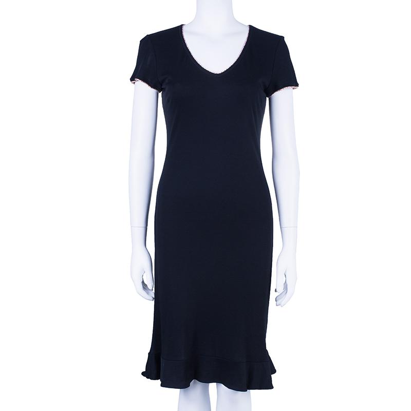 M Missoni Black Stretch Dress S