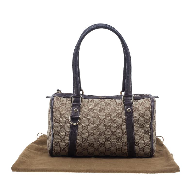 Gucci Brown Monogram Canvas Small Joy Boston Bag