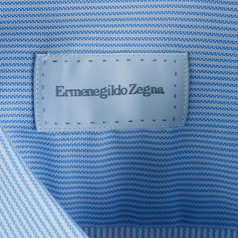 Ermenegildo Zegna Pinstripe Formal Shirt L