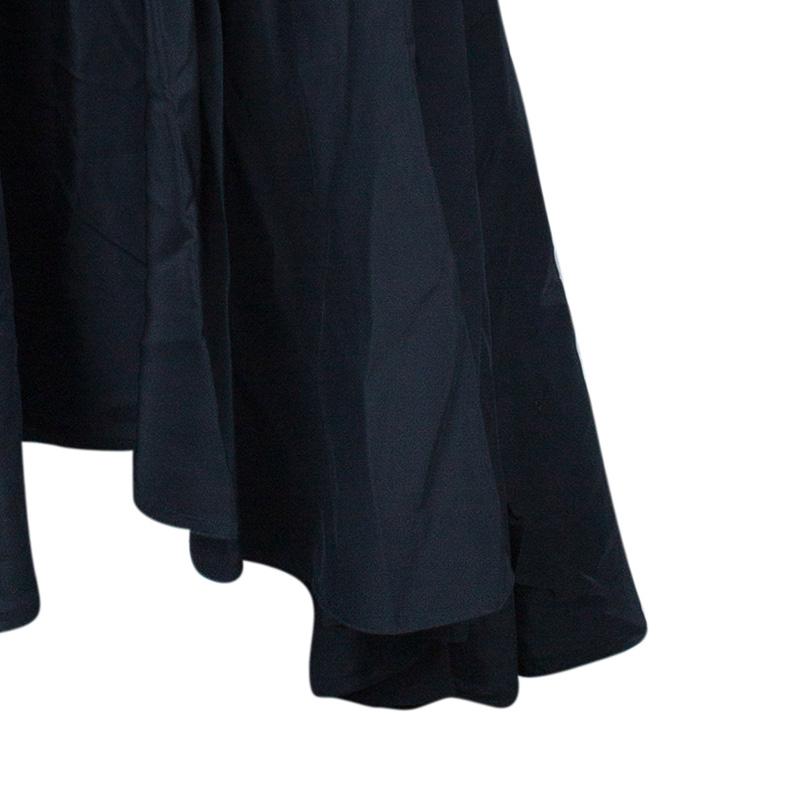 Saint Laurent Paris Rive Gauche Black Chiffon Evening Gown M