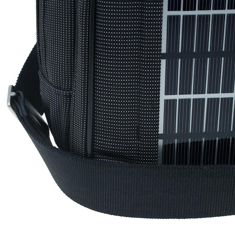 Dunhill Black Nylon Avorities Solar Panel Messenger Bag