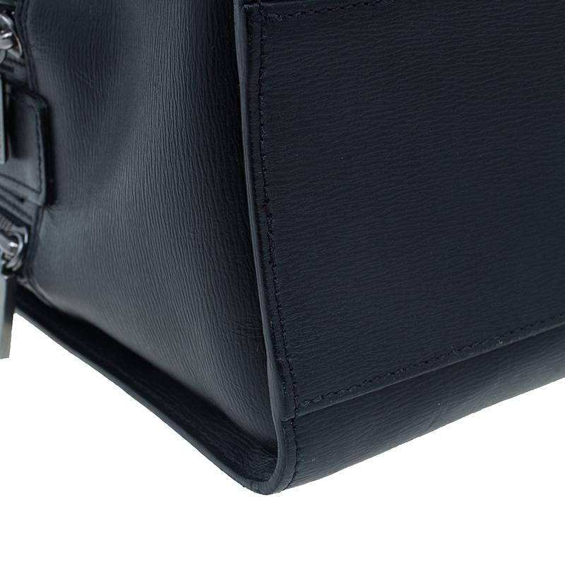 Montblanc Black Leather Messenger Bag