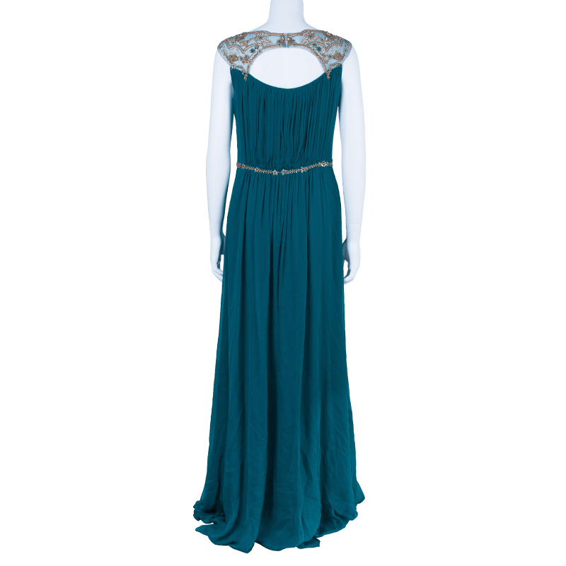 Marchesa Notte Blue Evening Gown M