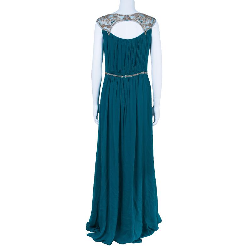 Marchesa Notte Blue Evening Gown M