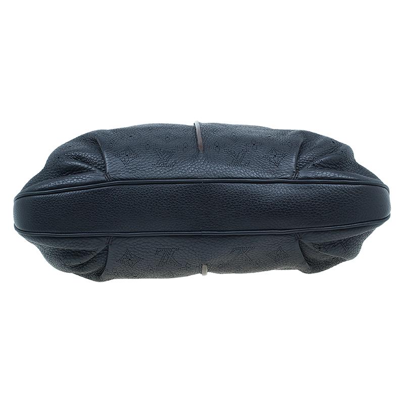 Louis Vuitton Black Monogram Mahina Leather Selene MM