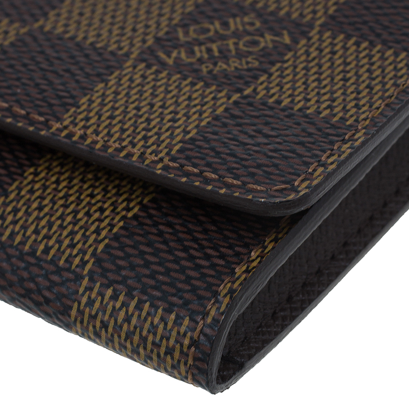 Louis Vuitton Damier Ebene Canvas Business Card Holder