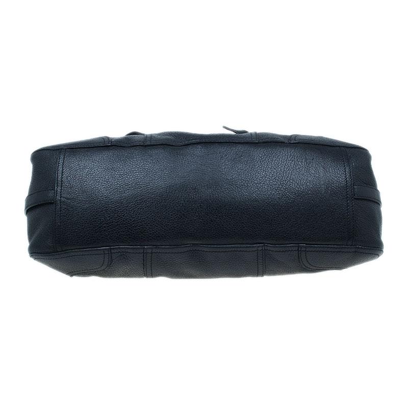 Prada Black Leather Vitello Daino Satchel