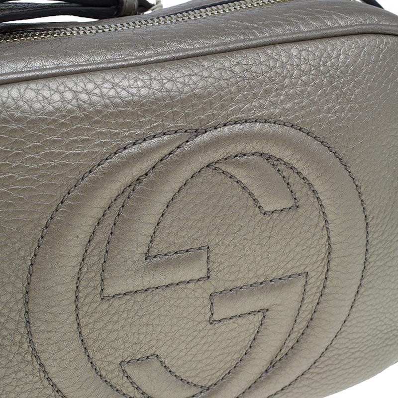 Gucci Gunmetal Leather Soho Disco Bag