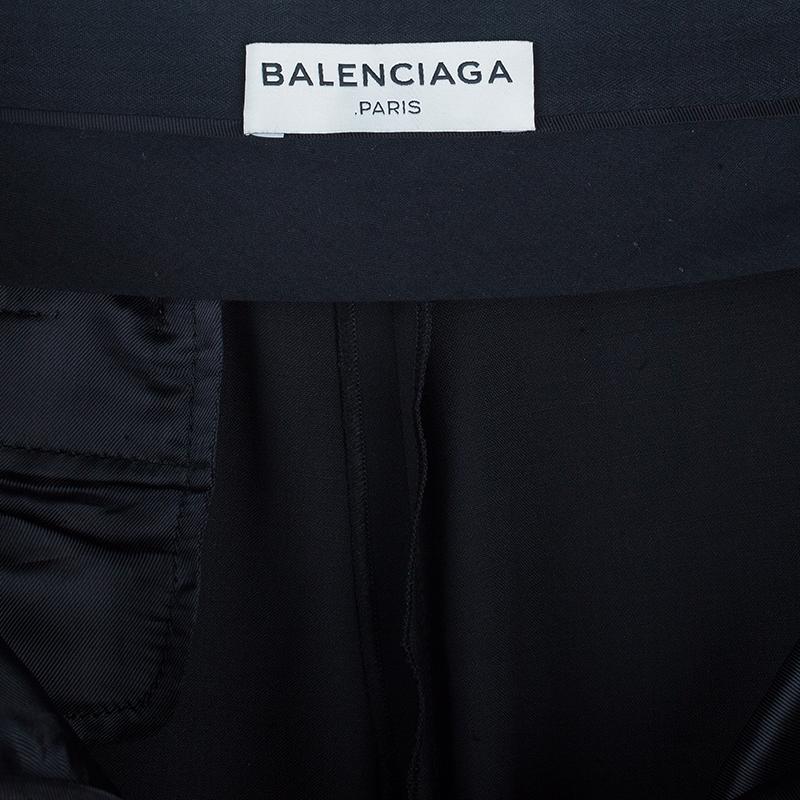 Balenciaga Black Classic Boyish Flare Trousers S