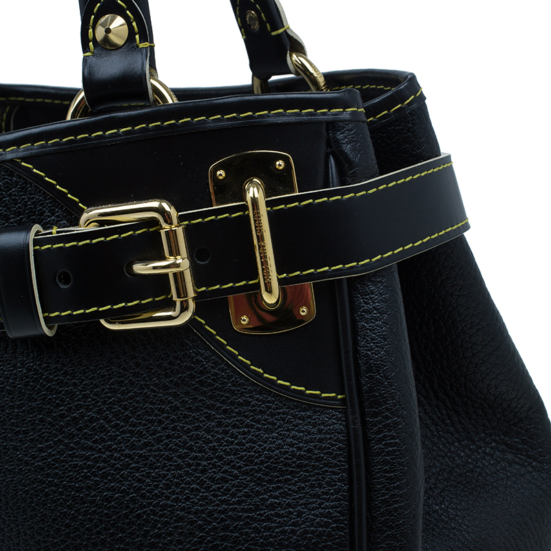 Louis Vuitton Black Suhali Leather Le Majestueux Tote