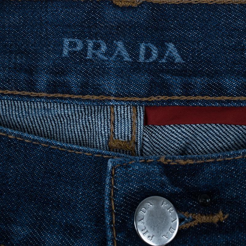 Prada Men's Blue Denim Jeans M
