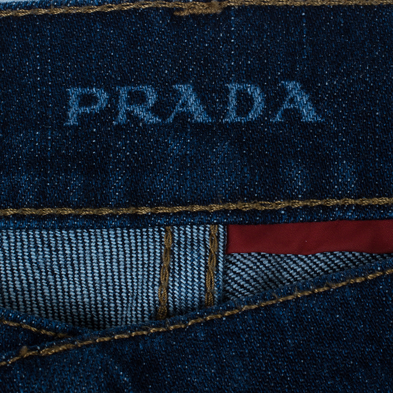 Prada Men's Dark Blue Denim Jeans M