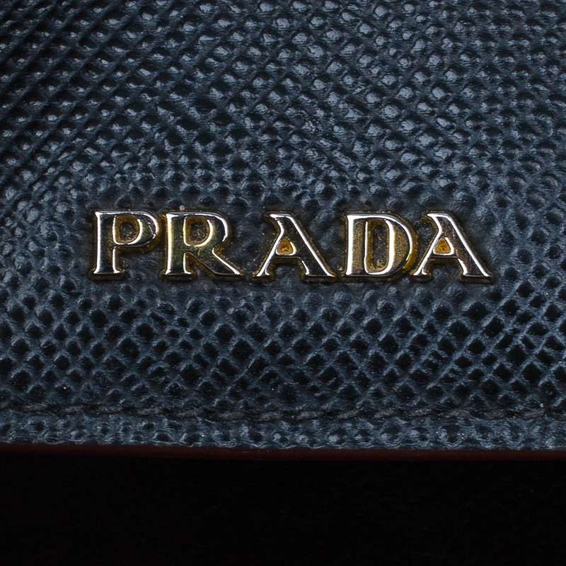 Prada Black Saffiano Soft Leather Convertible Tote