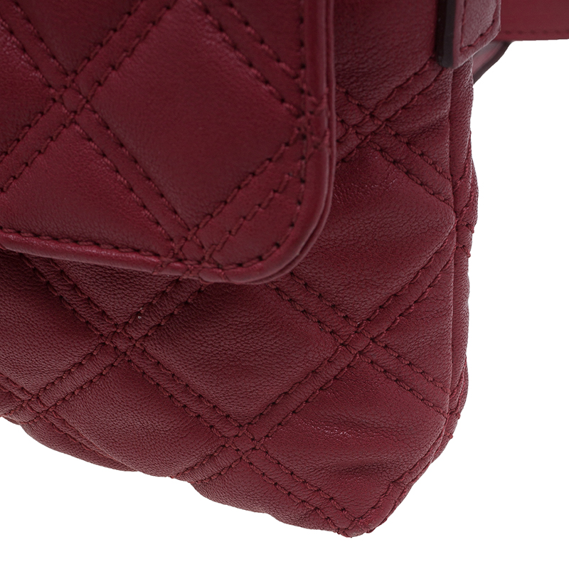 Marc Jacobs Red Quilted Leather Crossbody Bag