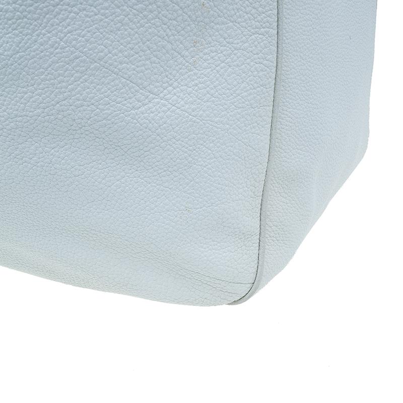Saint Laurent Paris White Leather Roady Hobo