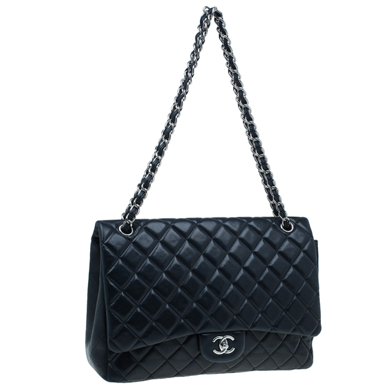 Chanel Black Lambskin Classic Maxi Flap Bag Buy Amp Sell Lc
