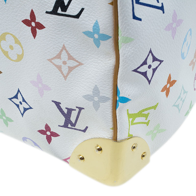 Louis Vuitton White Monogram Canvas Multicolore Speedy 30