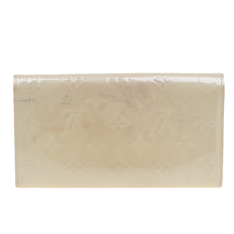 Louis Vuitton Citrine Monogram Vernis Sarah Wallet