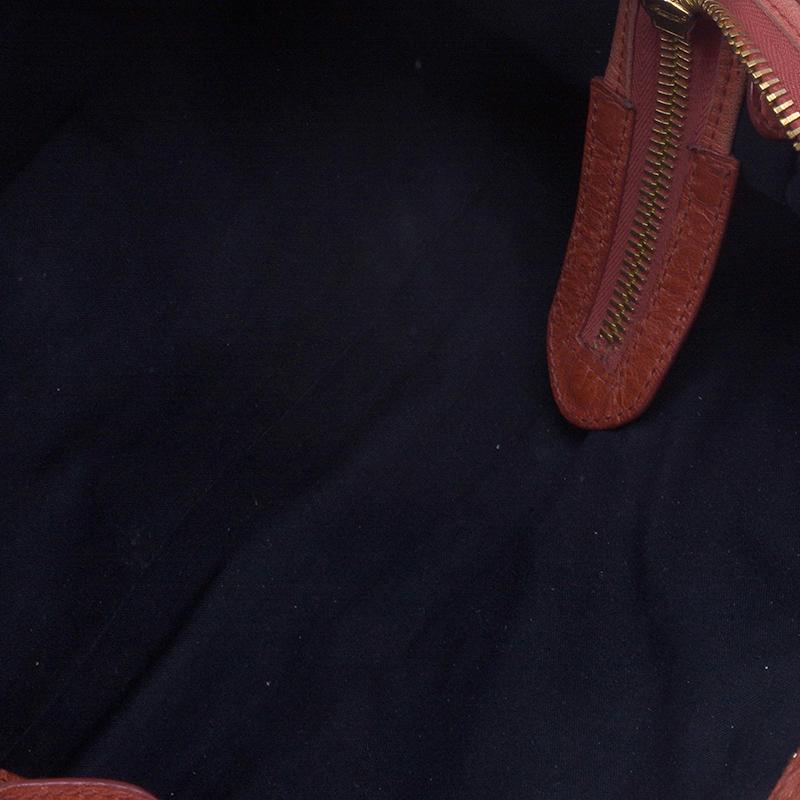 Balenciaga Orange Giant Part Time Shoulder Bag