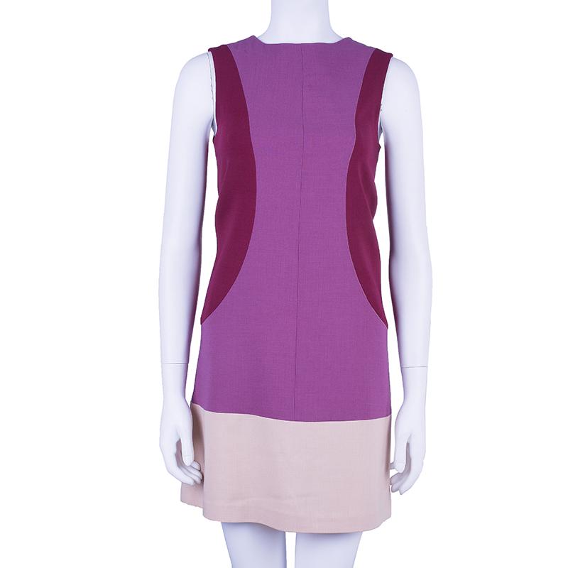 Fendi Colorblock Shift Dress S