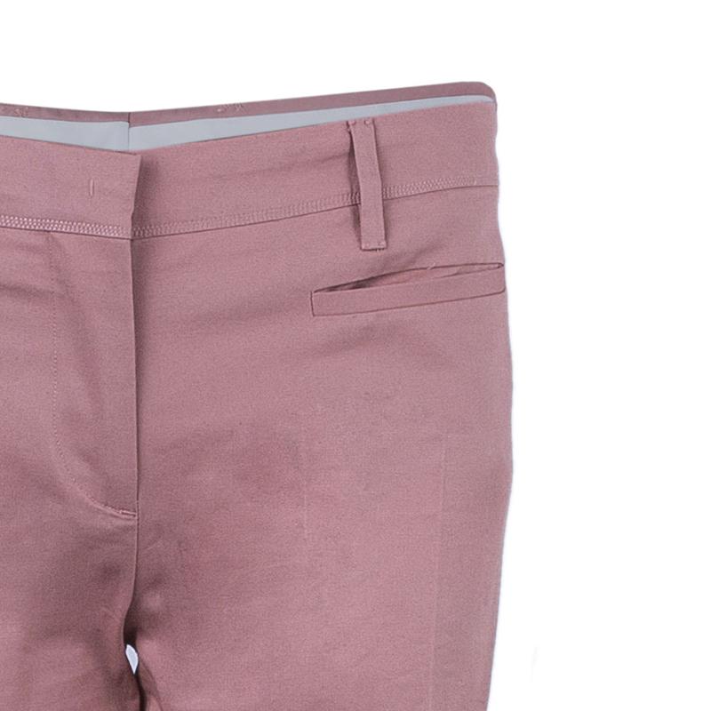 Miu Miu Peach Wide Leg Trousers M