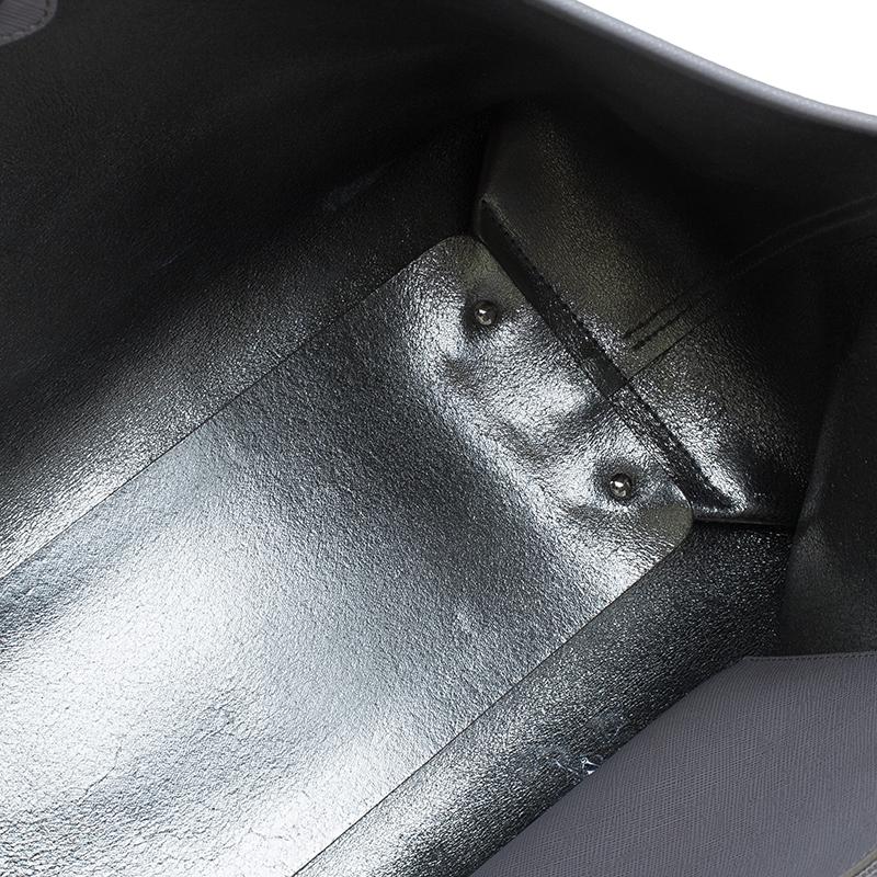 Salvatore Ferragamo Grey Leather Shopper Tote