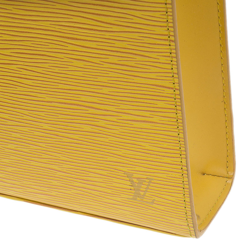 Louis Vuitton Yellow Epi Leather Malesherbes Bag