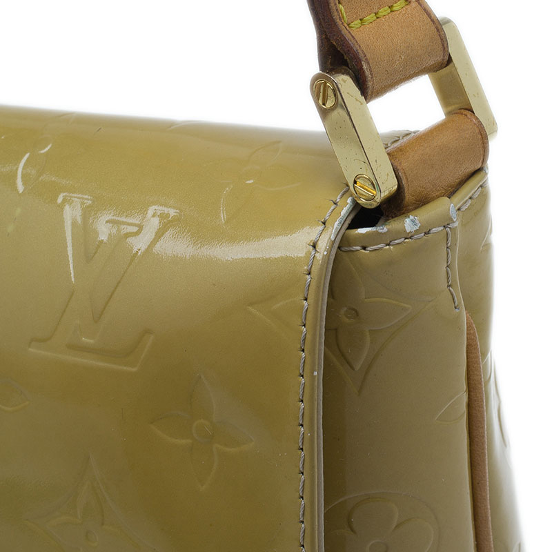 Louis Vuitton Beige Monogram Vernis Thompson Street Bag