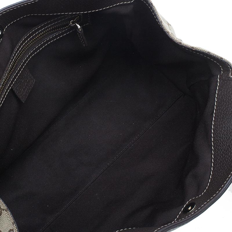 Gucci Brown Monogram Canvas Charmy Shoulder bag