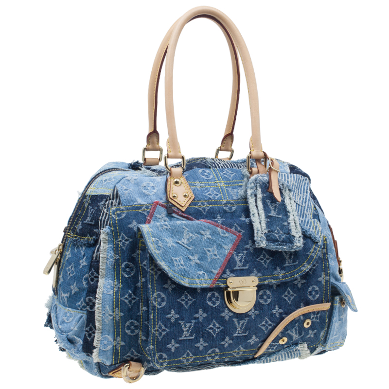 Louis Vuitton Blue Denim Bowly Limited Edition Shoulder Bag