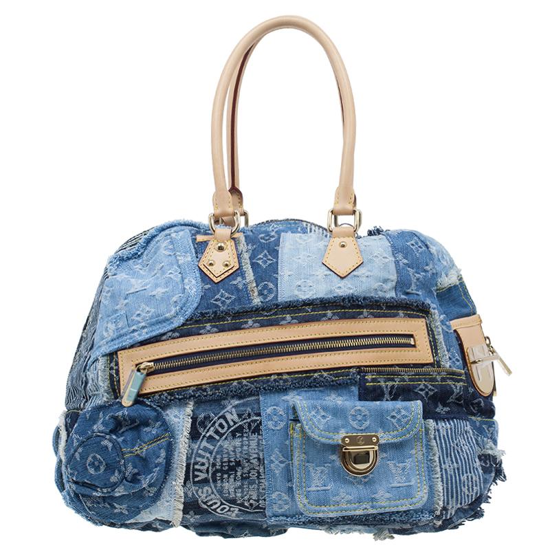 Louis Vuitton Blue Denim Bowly Limited Edition Shoulder Bag