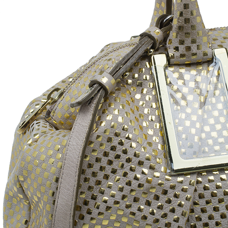 Chloe Metallic Gold Leather Ethel Satchel