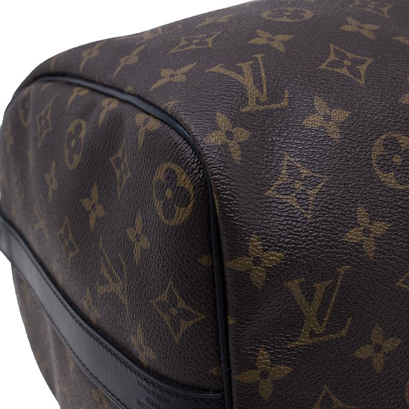 Louis Vuitton Monogram Macassar Canvas Keepall 45