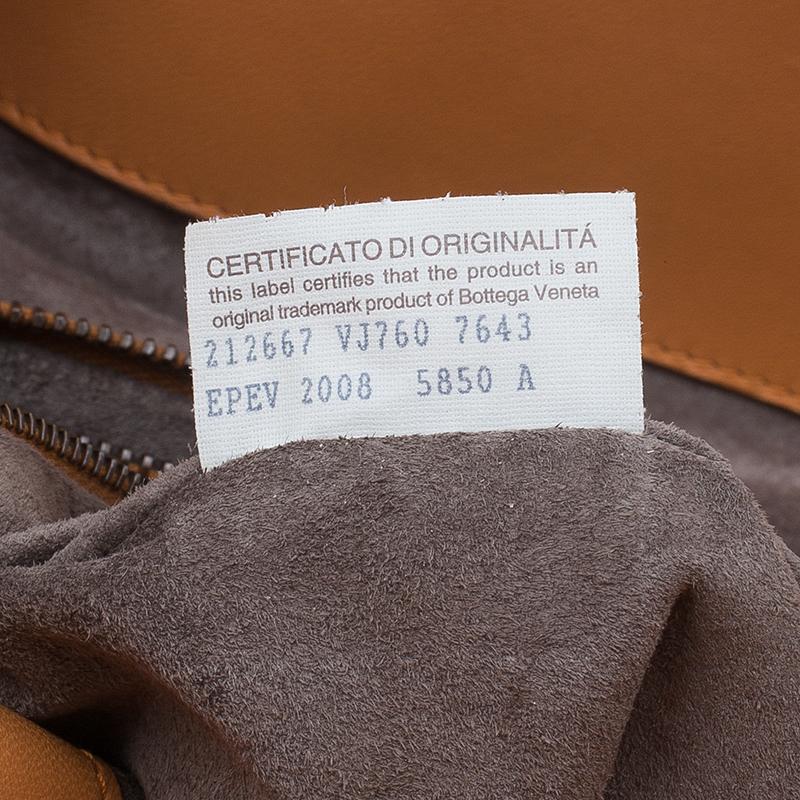 Bottega Veneta Orange Intrecciato Leather Limited Edition Shopper Tote
