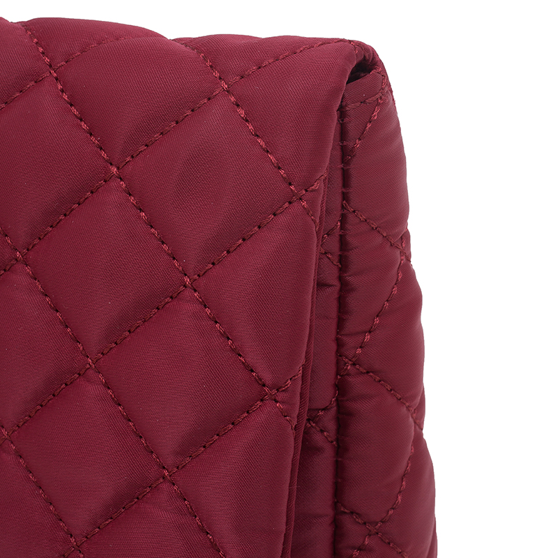 Carolina Herrera Red Quilted Flap Bag