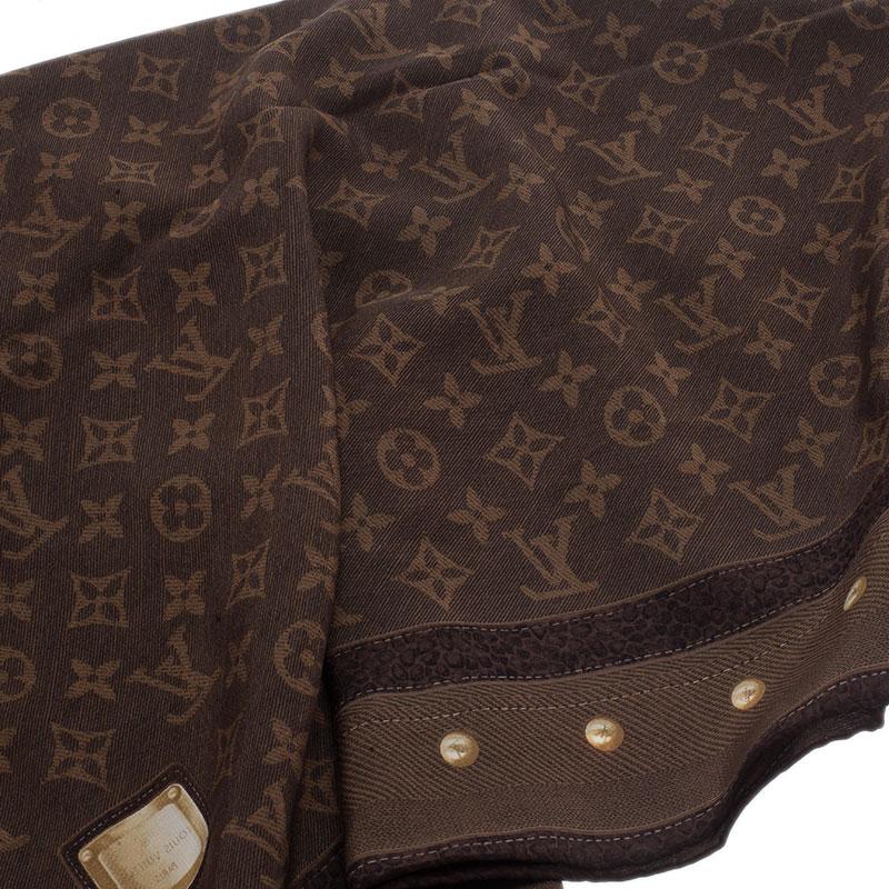 Louis Vuitton Brown Monogram Silk Stole