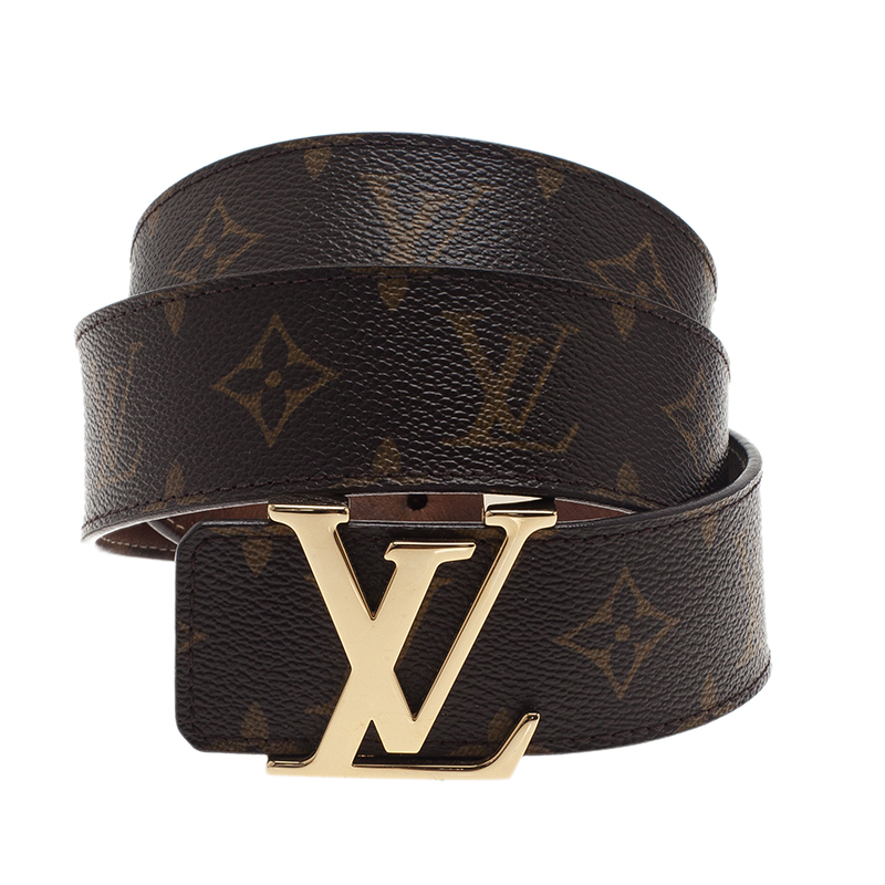 Louis Vuitton Monogram Canvas Initiales Belt 95CM