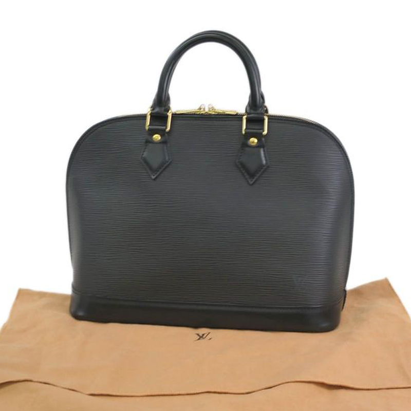 Louis Vuitton Noir Epi Leather Alma PM